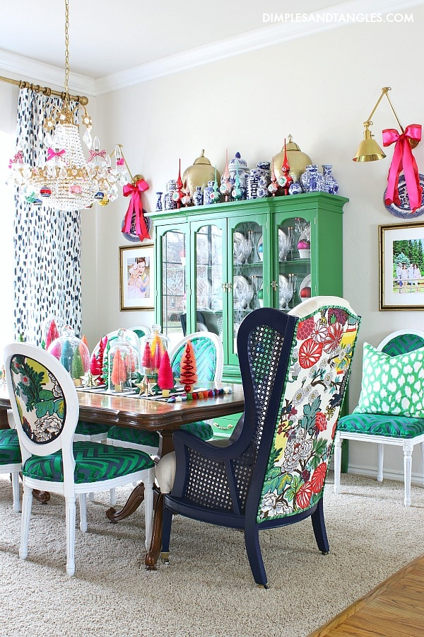 colorful grandmillennial dining room colorful creative chic home
