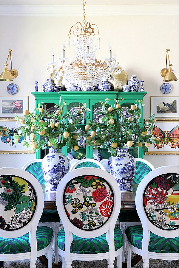 grandmillennial dining room colorful creative chic home
