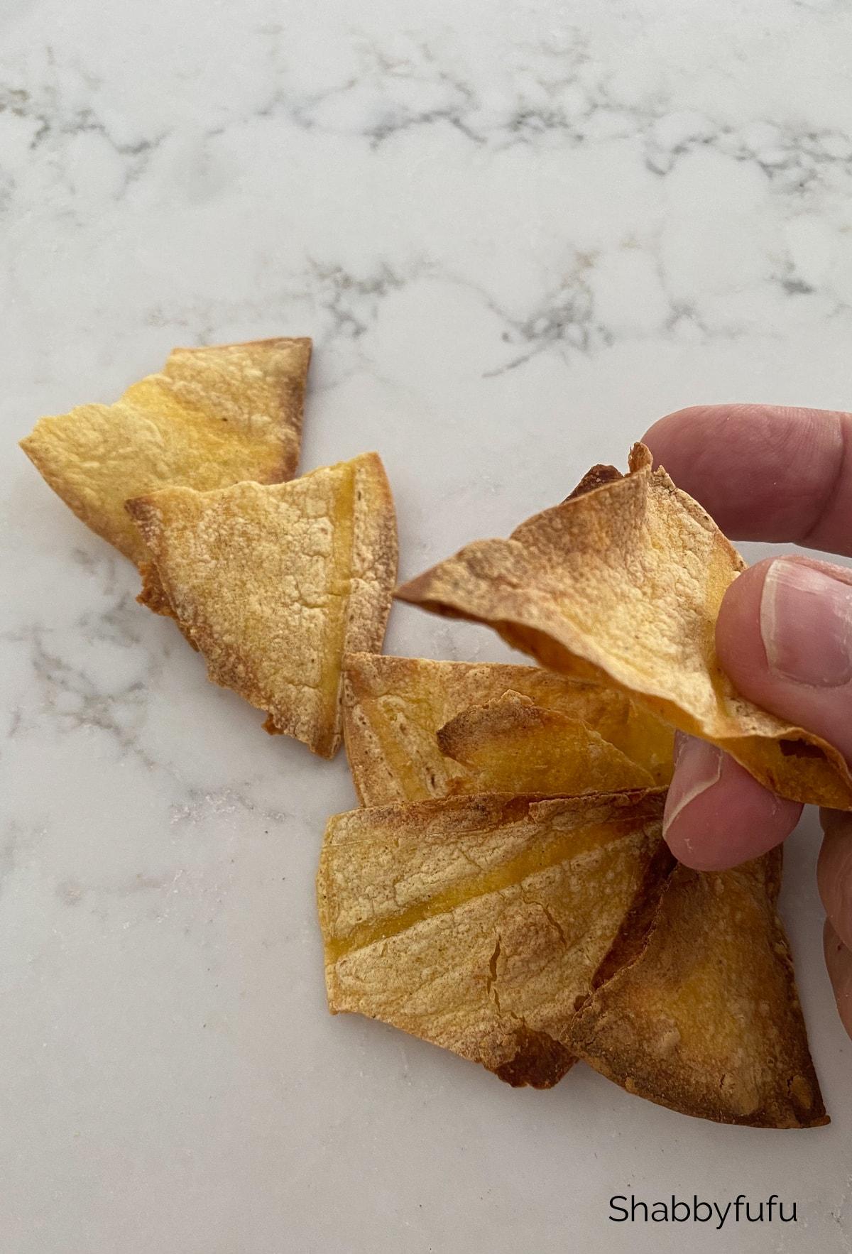 Air fryer corn chips