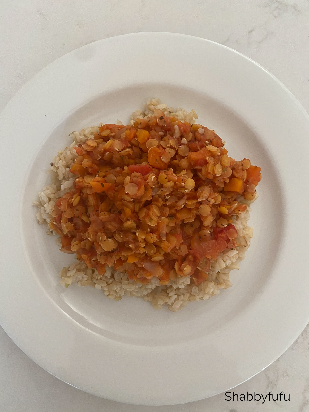 How I Lost 25 Pounds lentils on rice