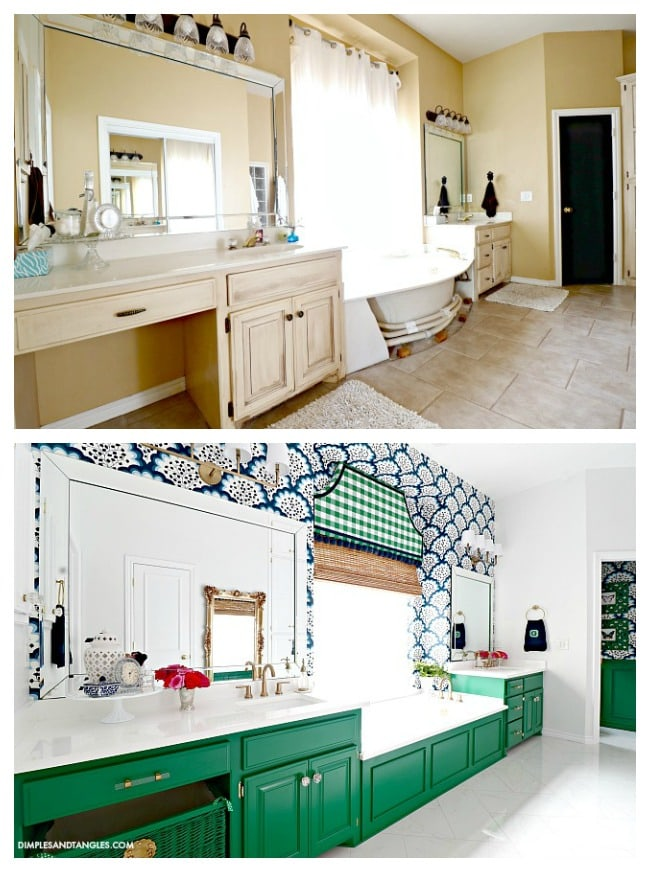 Master Bathroom Before & After