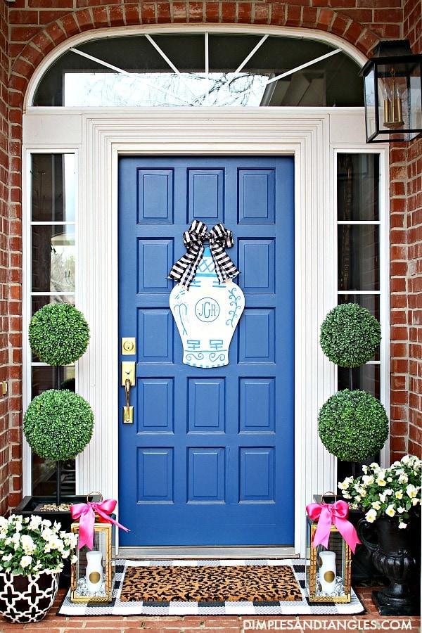 preppy blue front door