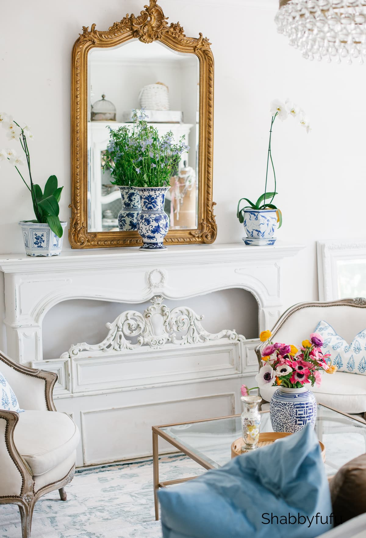 spring living room restyle
