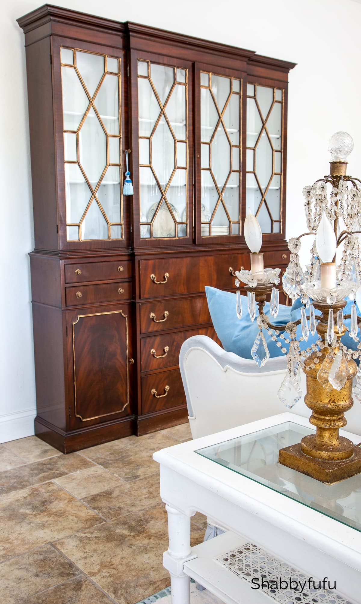vintage mahogany breakfront cabinet Facebook marketplace