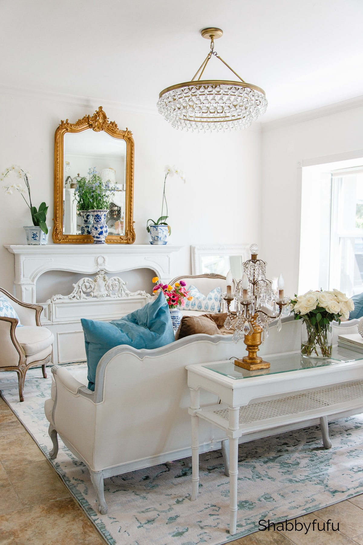 spring living room restyling