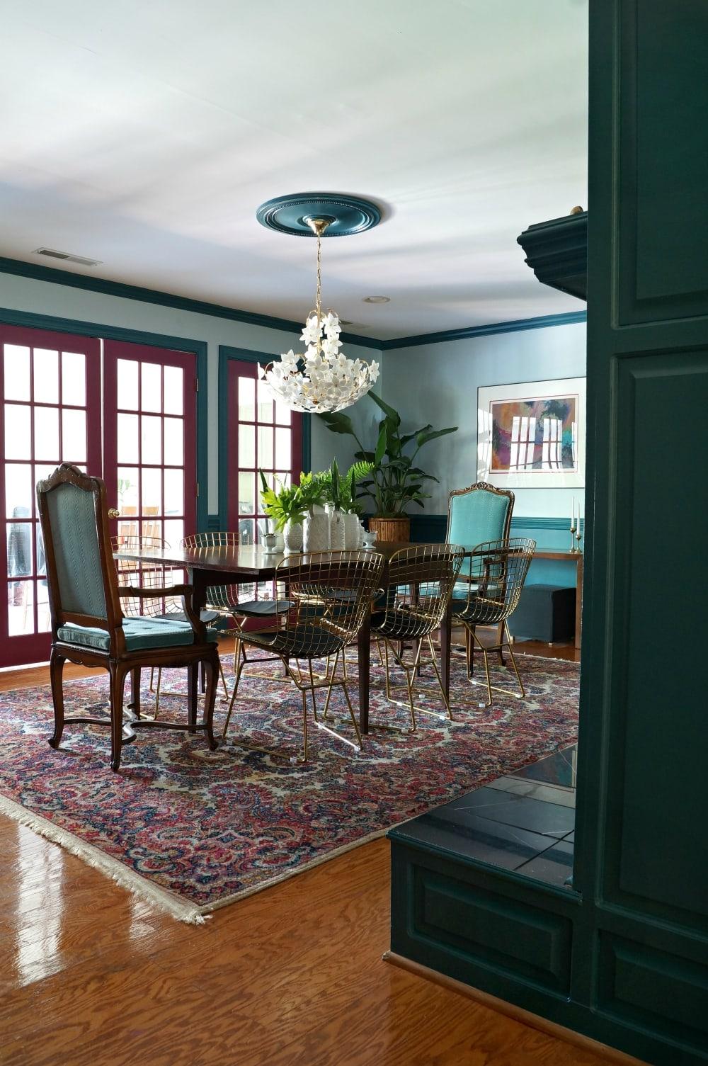 mid century modern home dining room