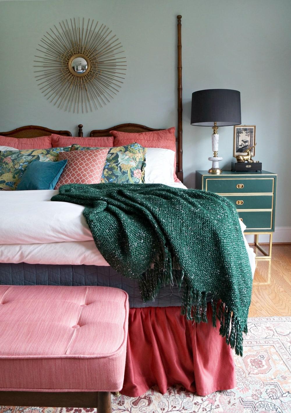 mid century modern home bedroom
