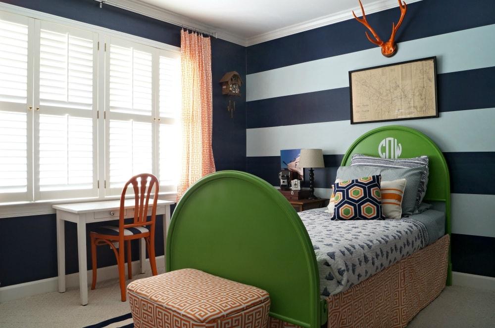 mid century modern home boy bedroom