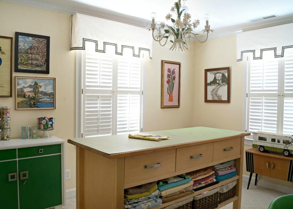 craft room mid century modern home
