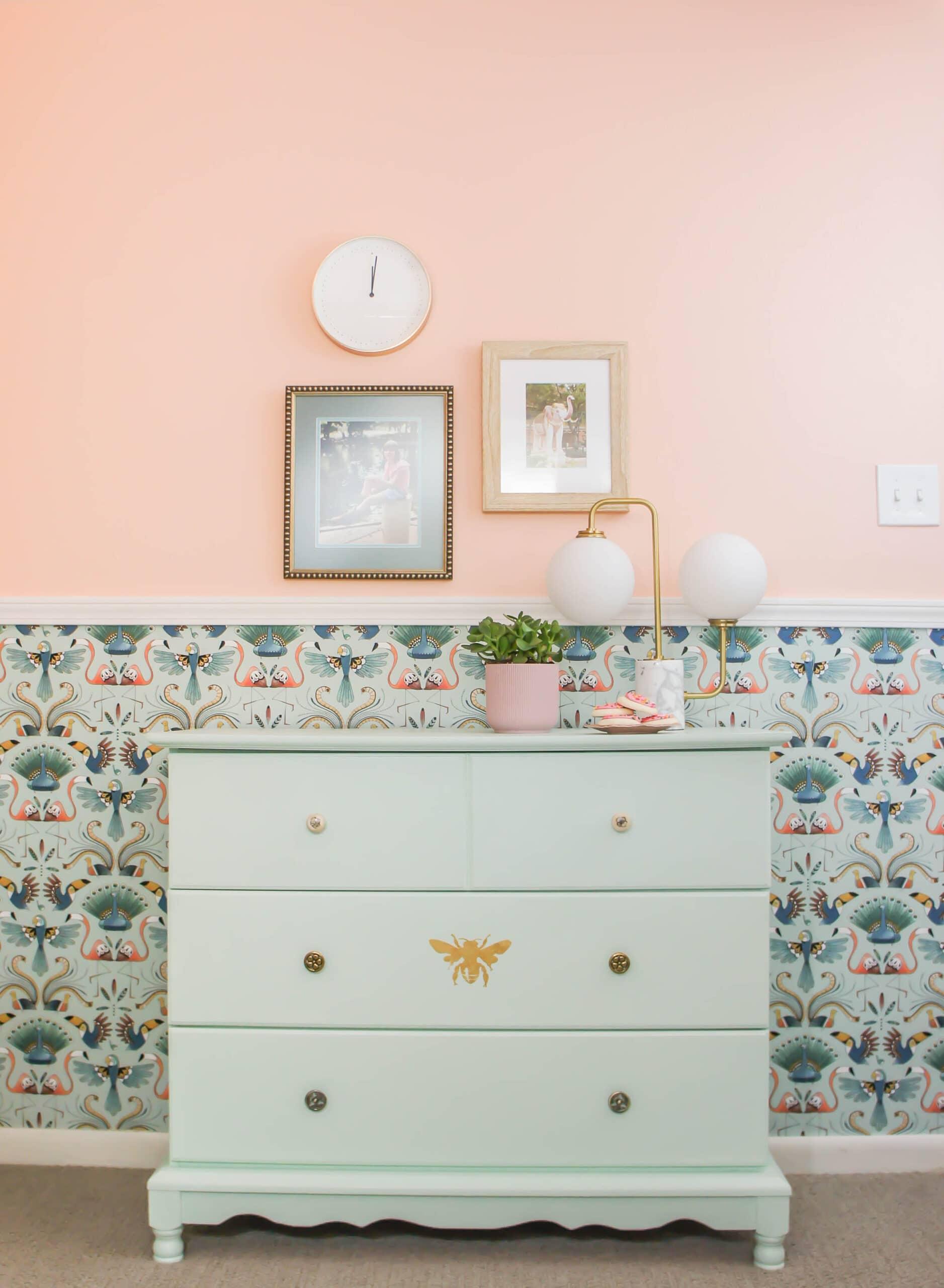 girls room after eclectic designer home tour