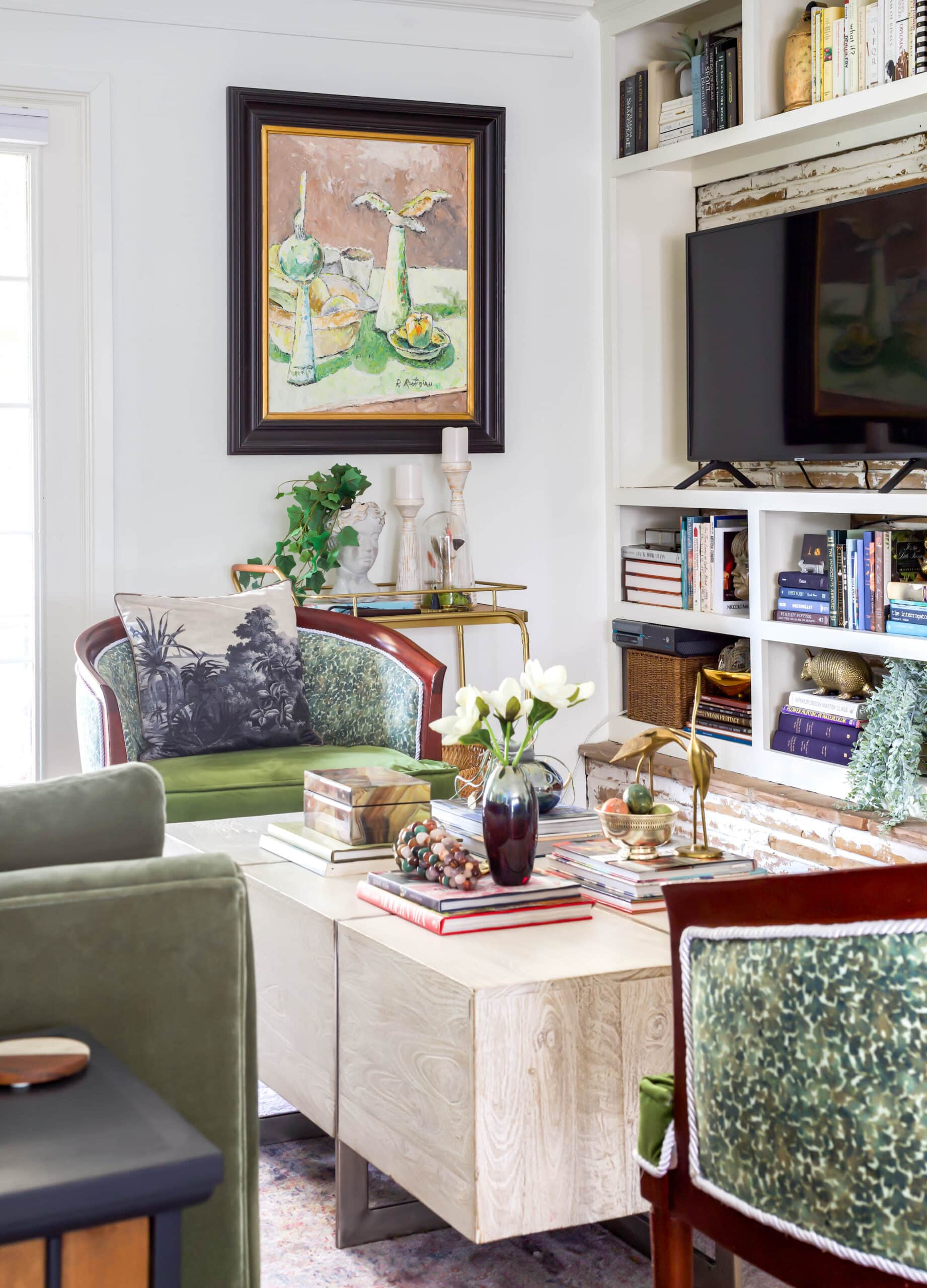 eclectic designer home tour living room