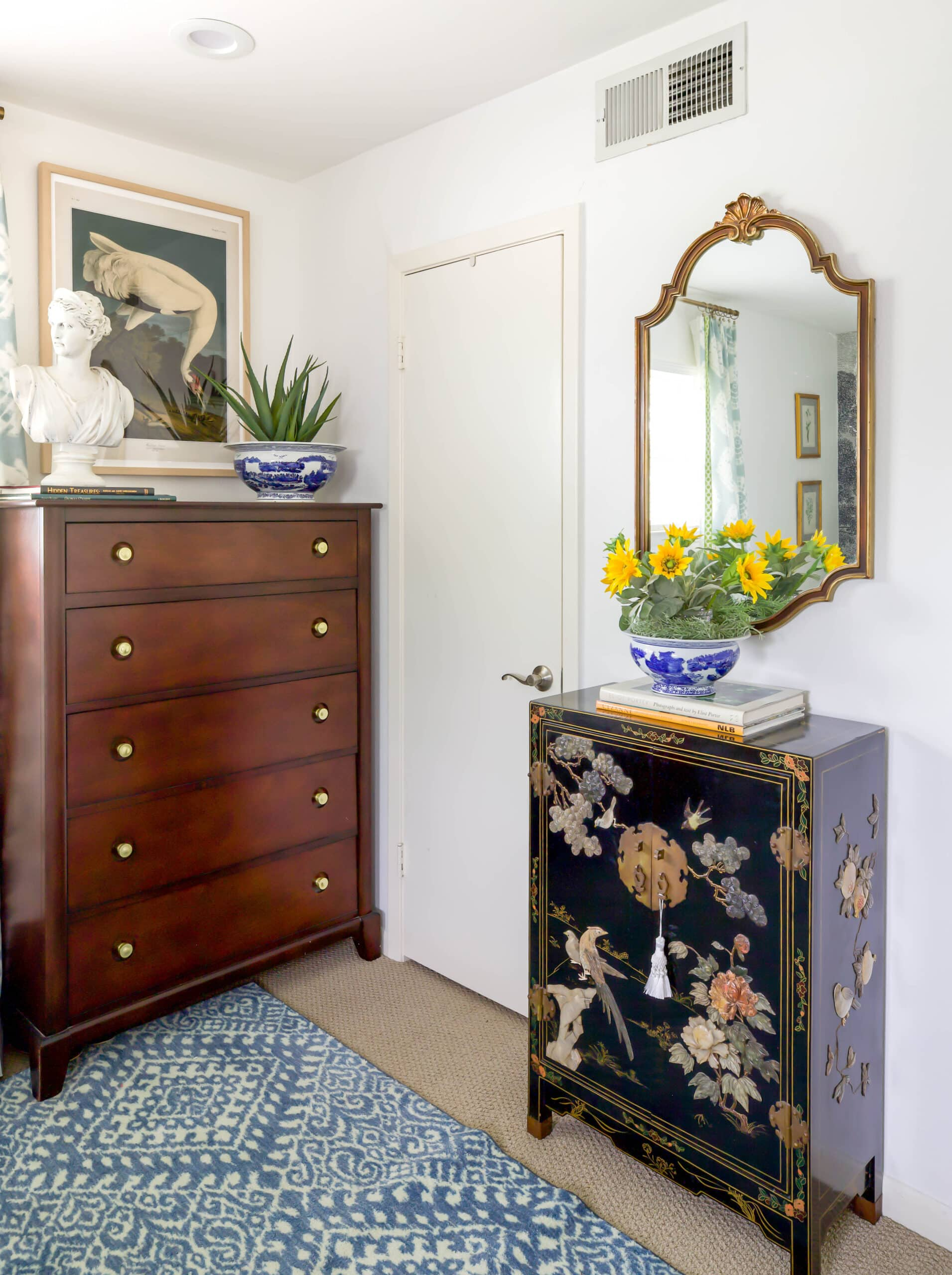 Asian inspired master bedroom eclectic designer home tour