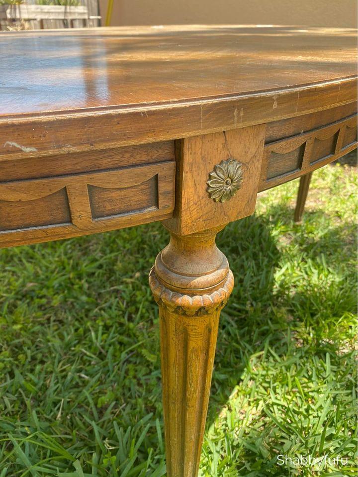 vintage Thomasville oval table