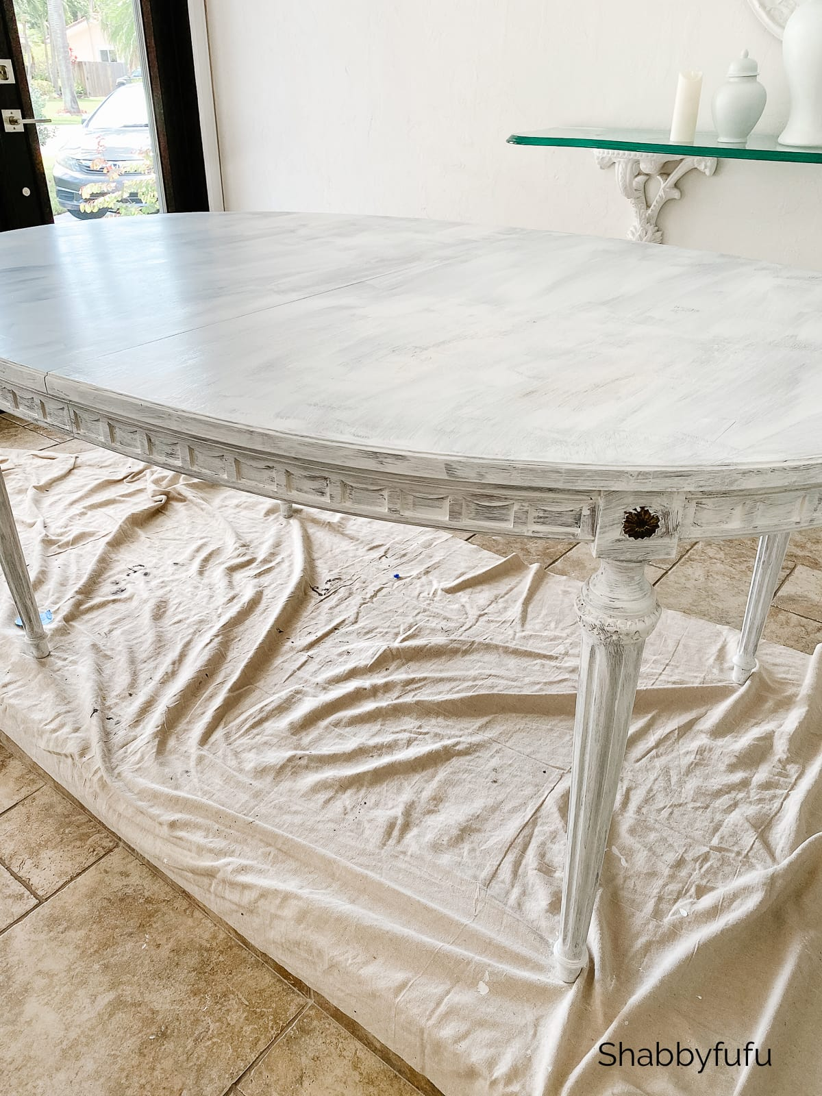 how to paint a table without chalk paint