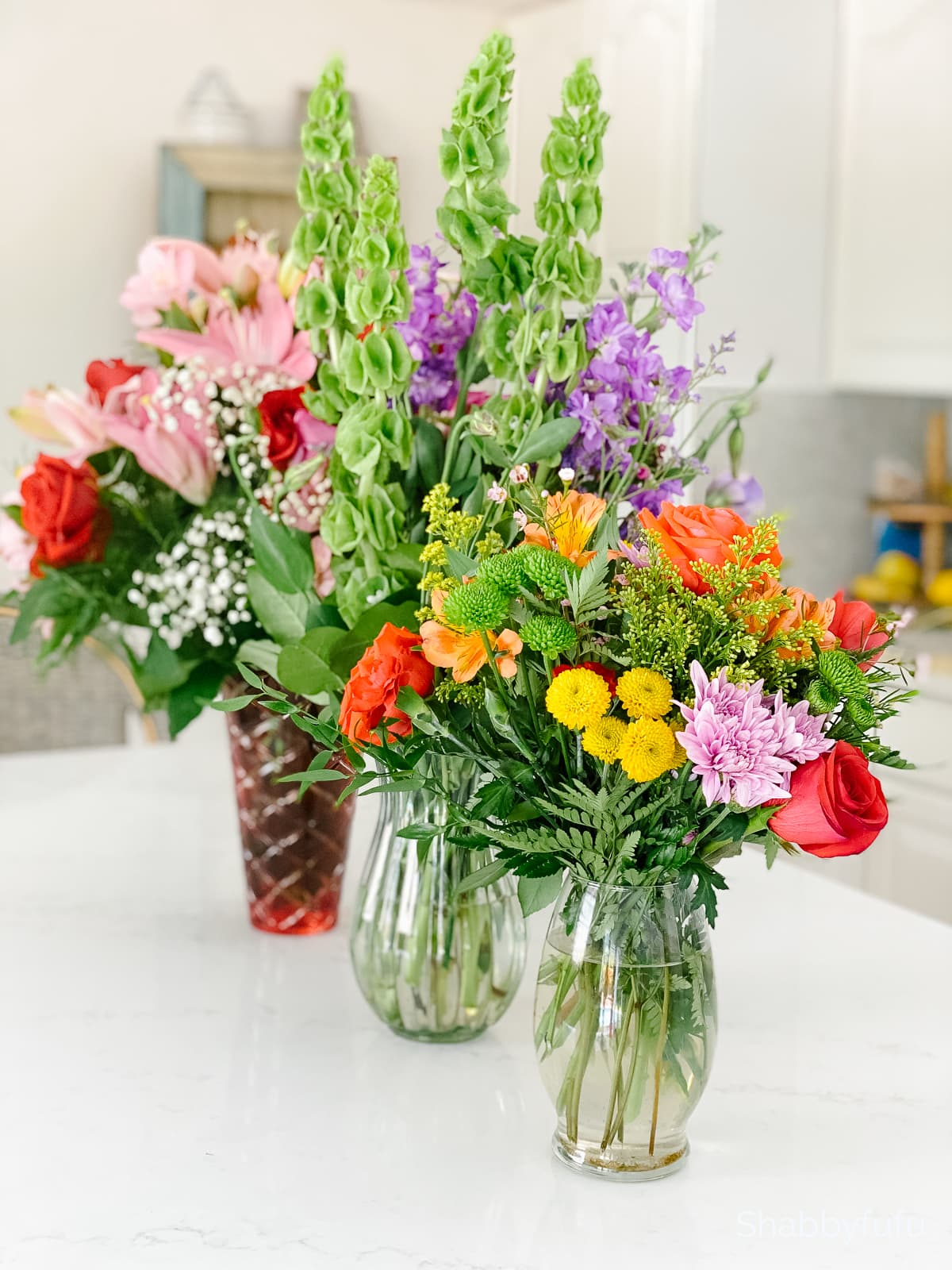 repurpose flowers indoors from the florist