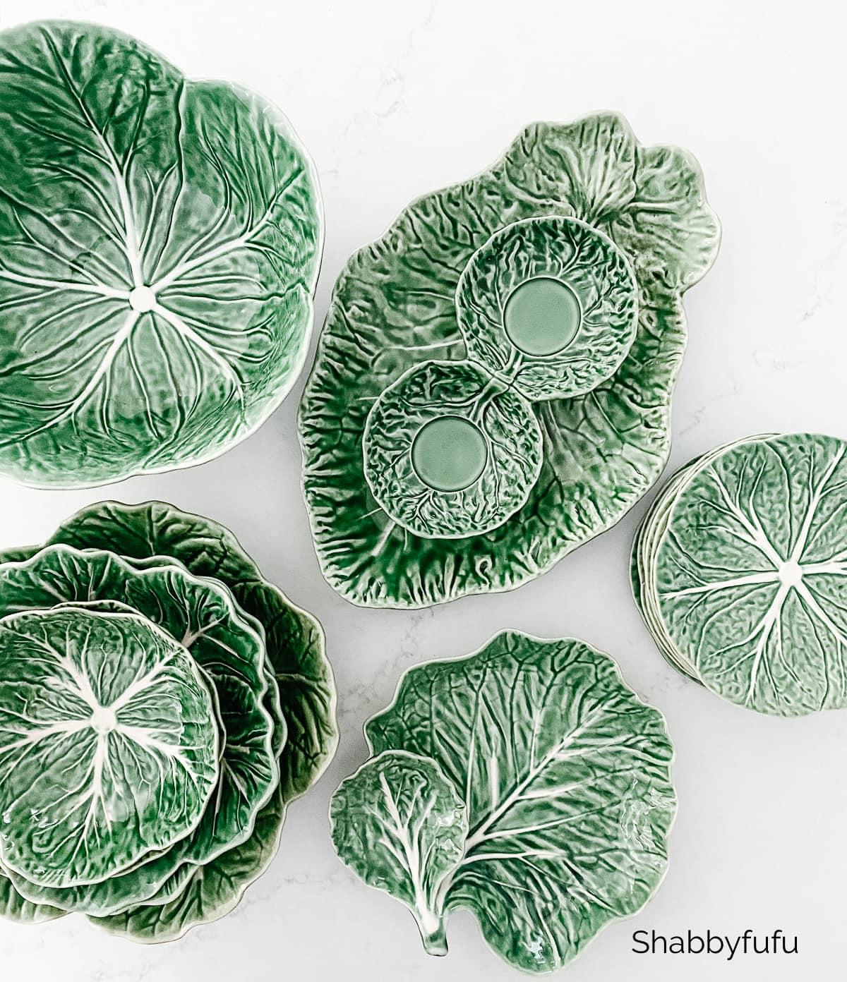 Bordallo Pinheiro green cabbage found on Facebook Marketplace