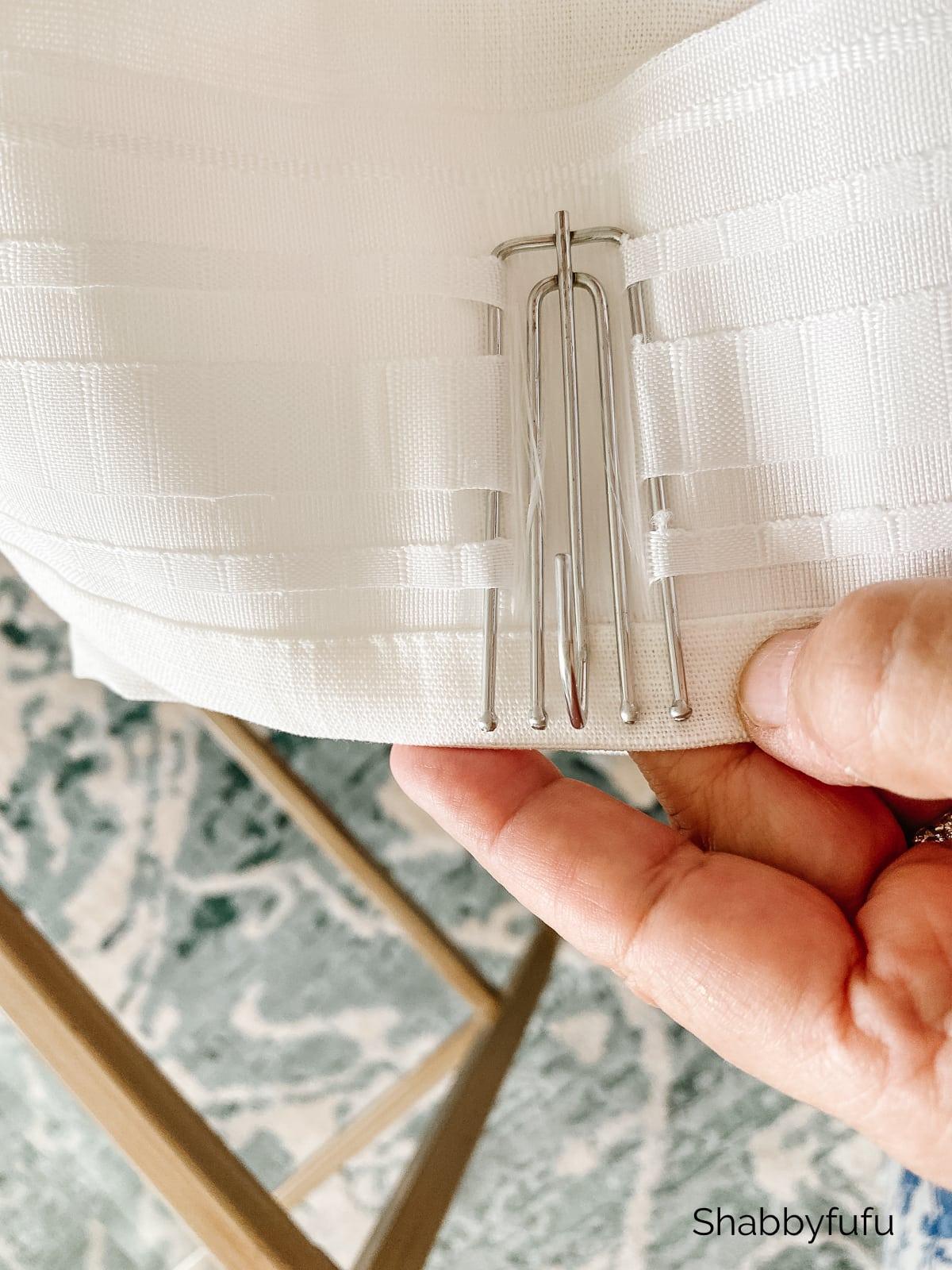 Ikea Ritva pleated drapes