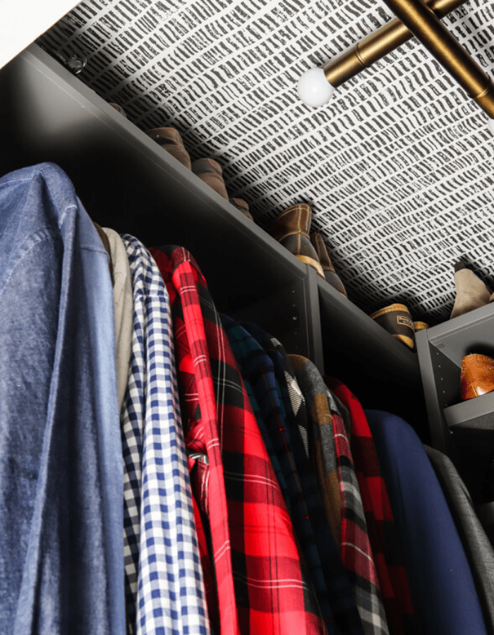 after picture of master closet