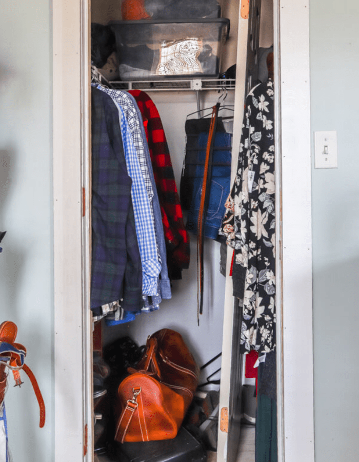 before picture of master closet