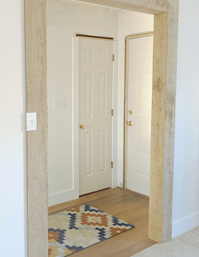 wood opening makeover DIY project