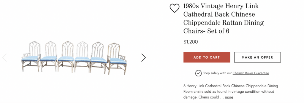 vintage Henry Link rattan chairs