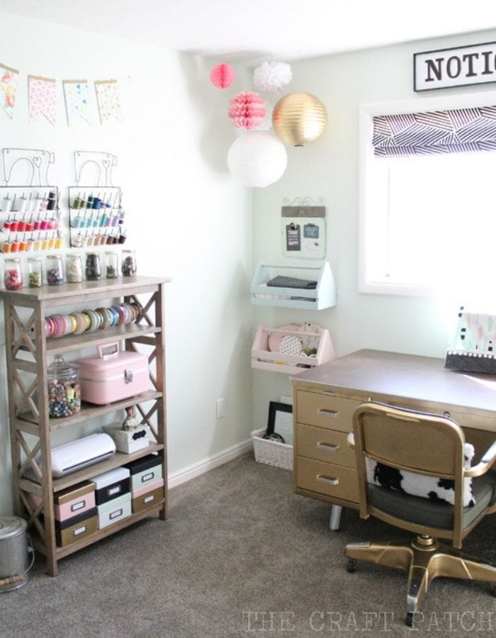 picture of DIY craft room in home tour