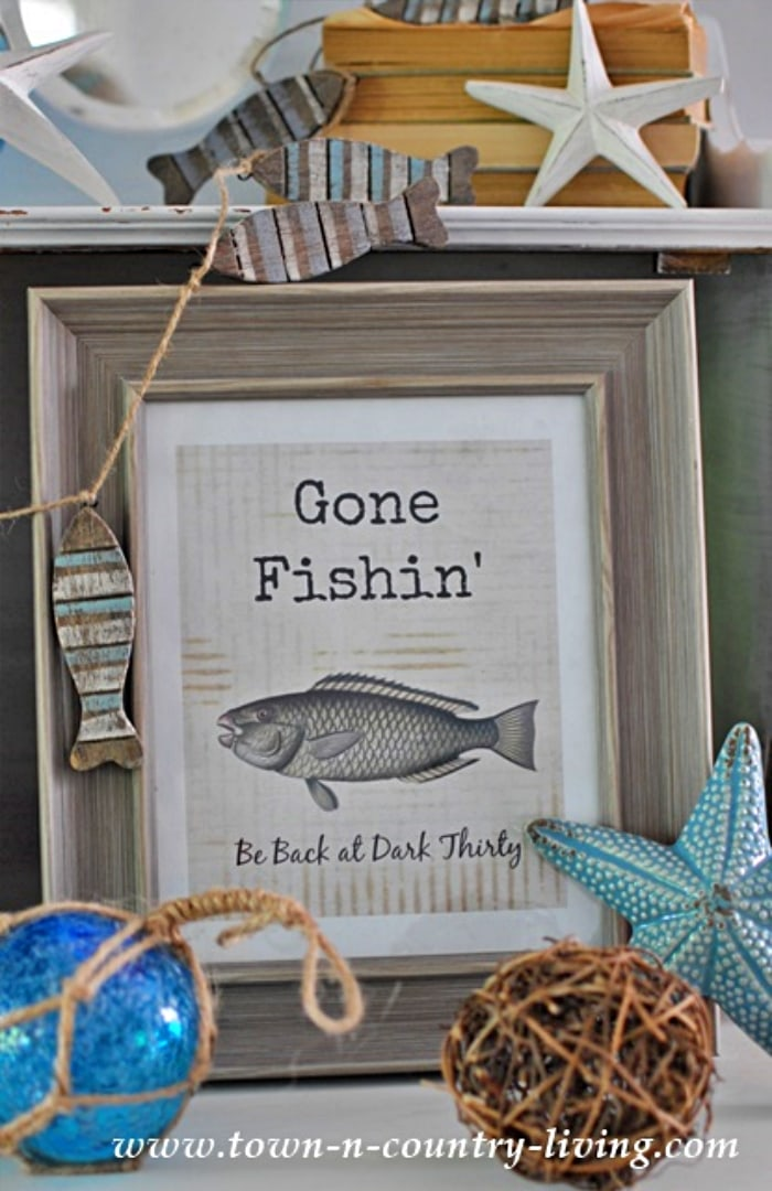 gone fish printable image