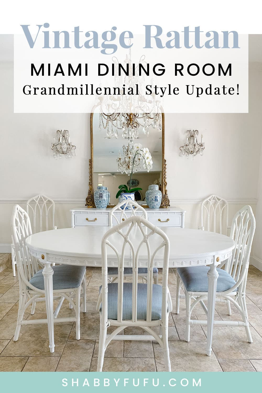 Vintage Rattan Chairs - Update In The Dining Room