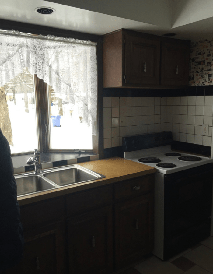 before picture of old kitchen