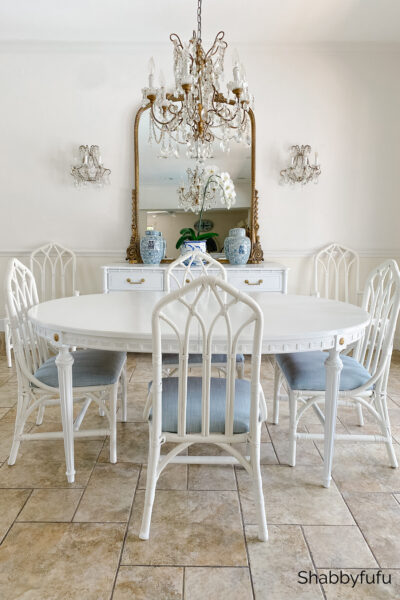 Henry Link vintage rattan cathedral chairs