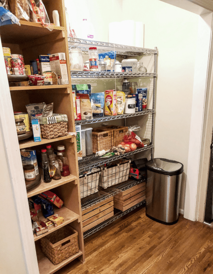 before makeover farmhouse styled renovation small kitchen dining pantry area