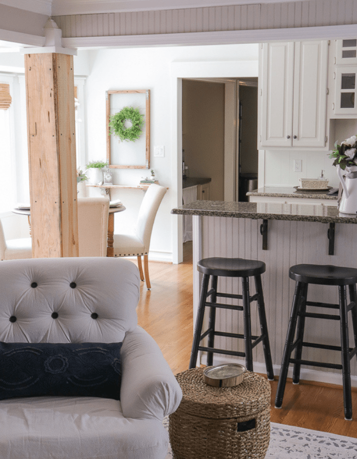 makeover farmhouse styled renovation small kitchen dining area