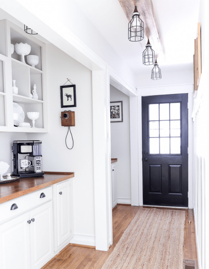 makeover farmhouse styled renovation small kitchen dining pantry area