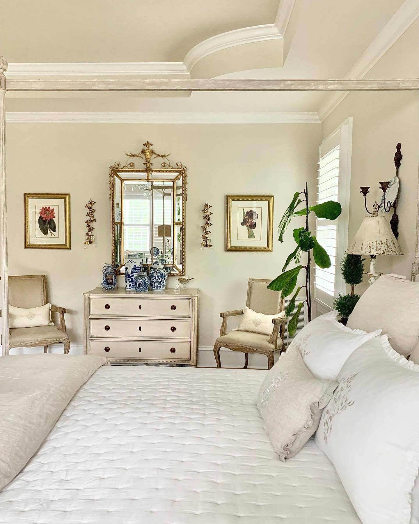 French country style home master bedroom Eloquence designs
