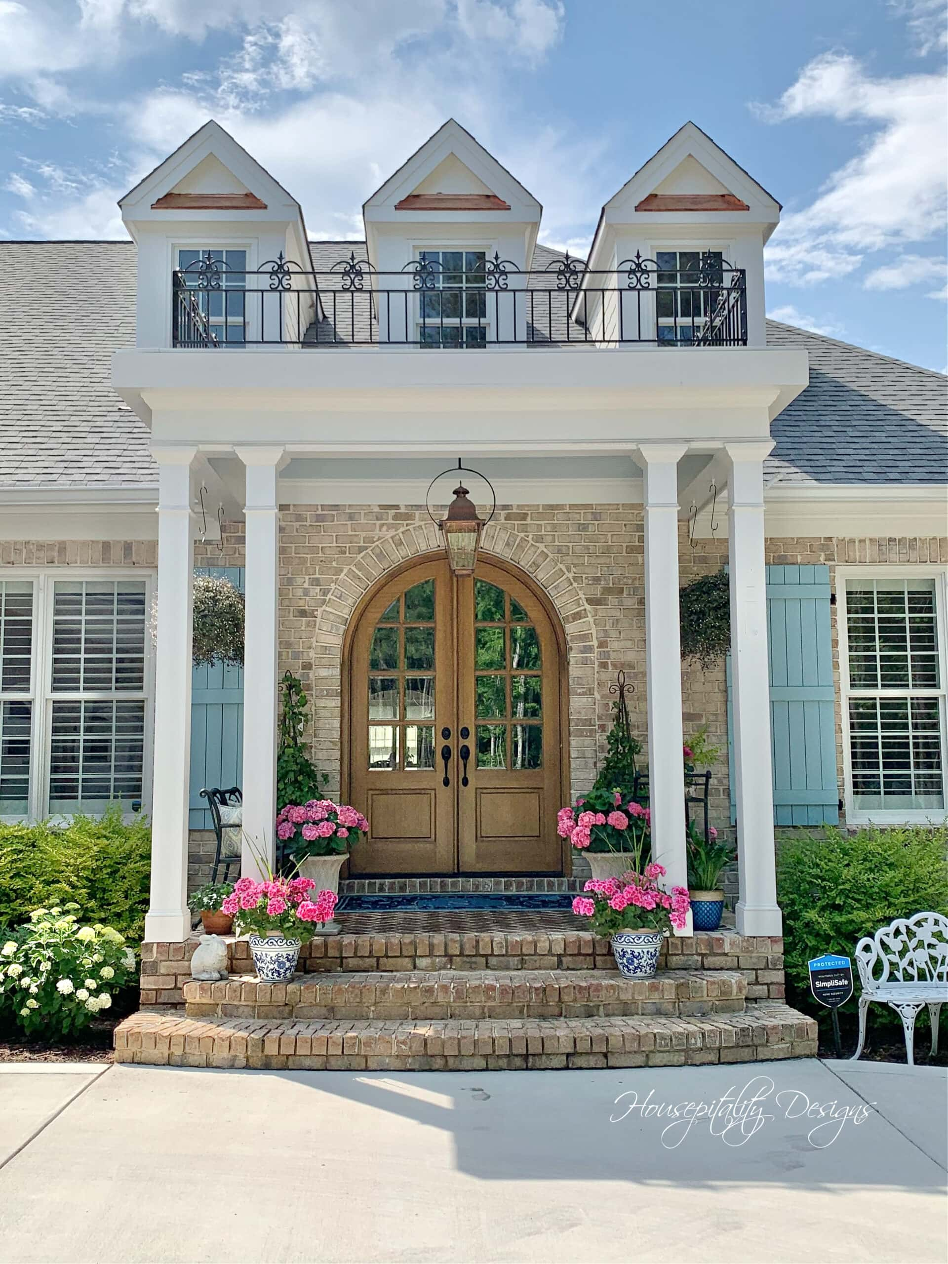Front entry French style home tour