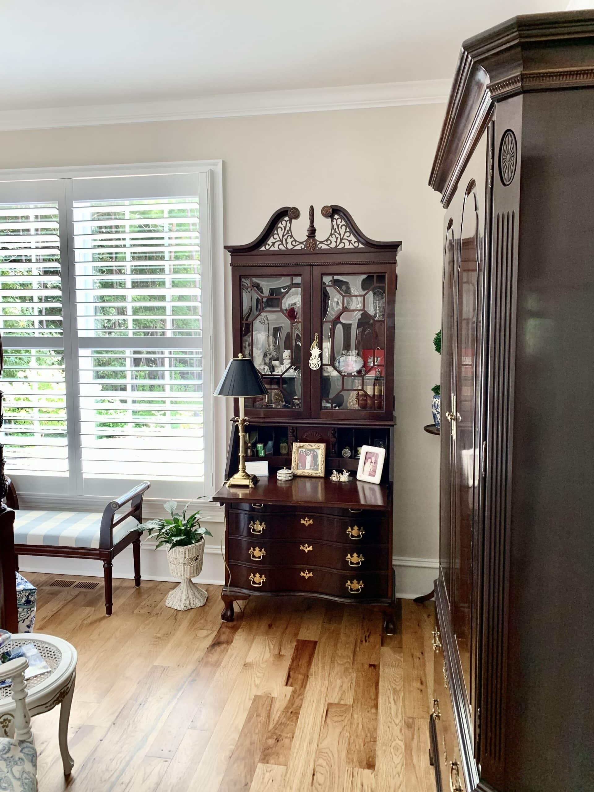 French country style home guest room