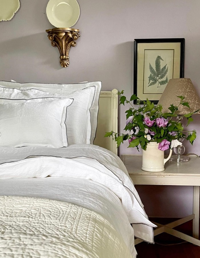farmhouse chic french-style bedroom in upstate new york