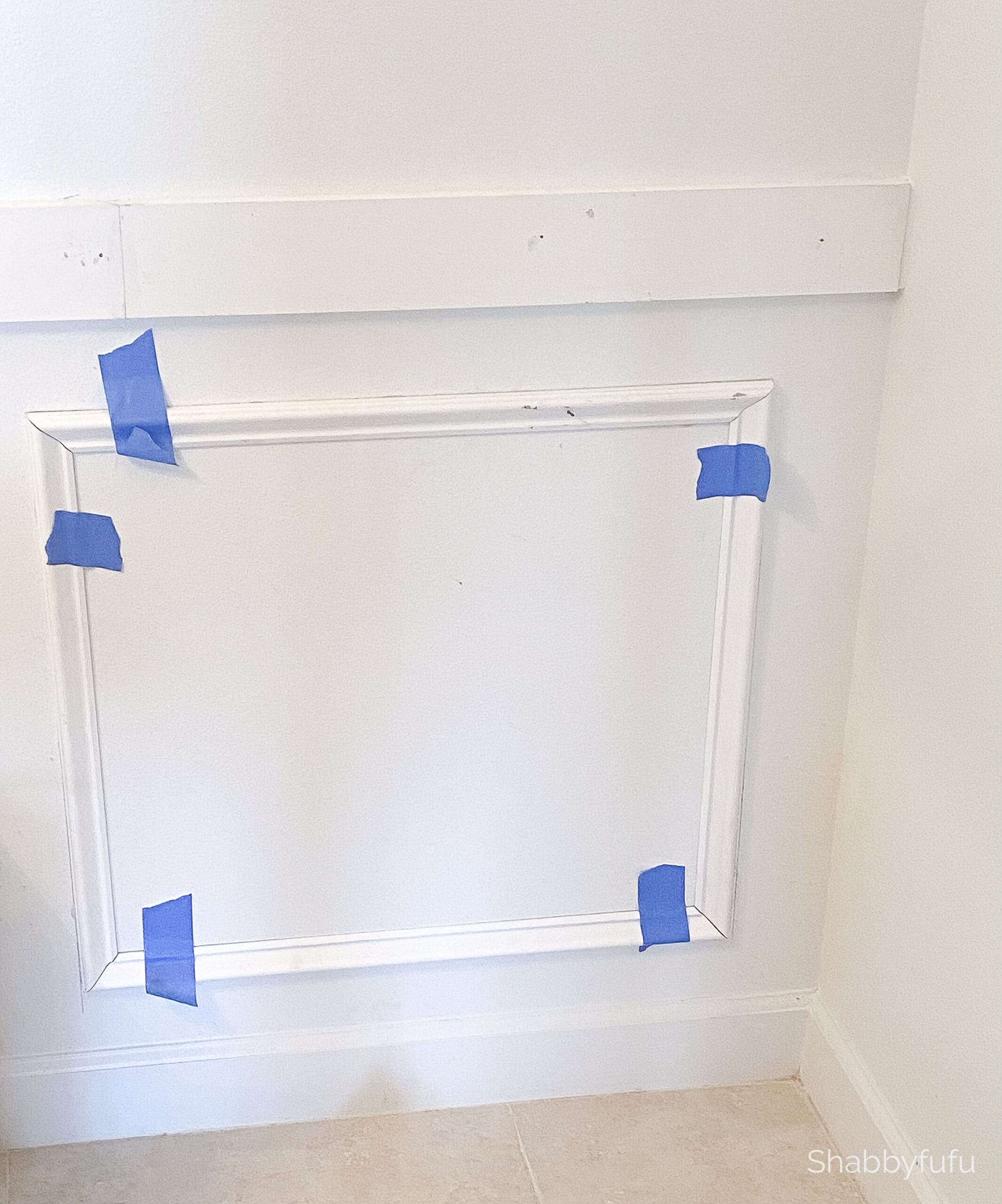 adding picture frame molding to a wall