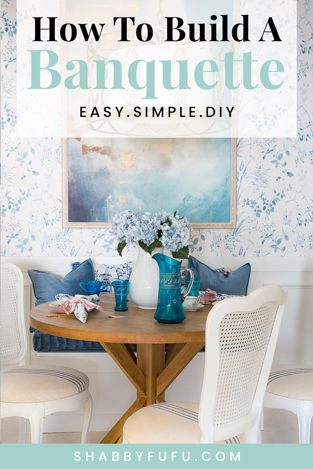 How To Build A Simple Breakfast Room Banquette PIN