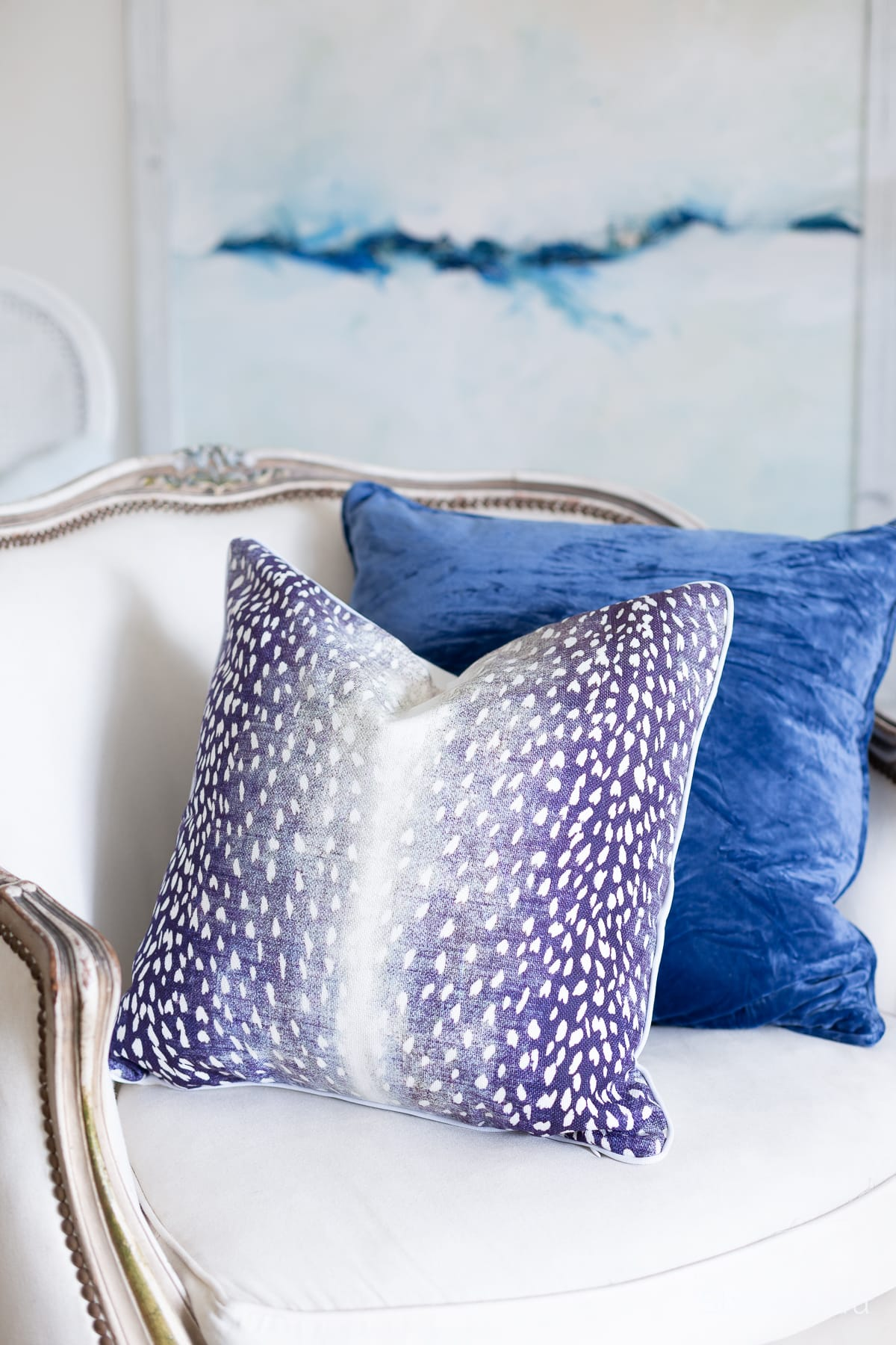 navy blue antelope pillow