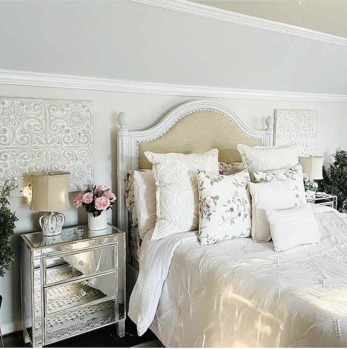 suburban fixer upper primary bedroom