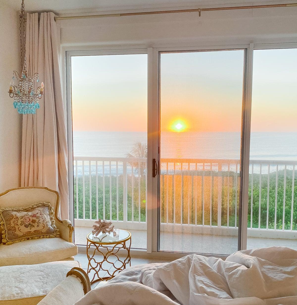 beach house sunrise